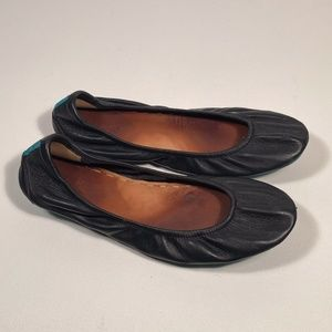 Tieks Black Leather Comfort Flats Women Size 11